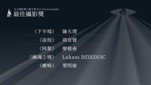 第22屆台北電影獎最佳攝影入圍名單