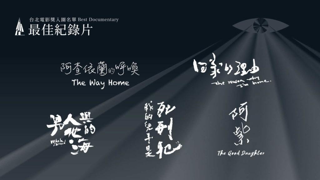 第22屆台北電影節最佳紀錄片入圍名單