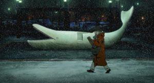 《東京教父》美由紀獨自走在雪中