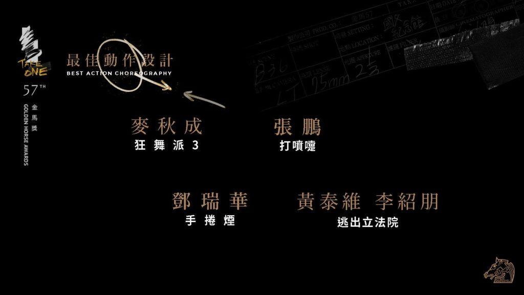 第57屆金馬獎最佳動作設計入圍名單